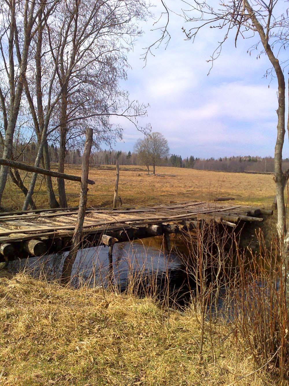 деревянный мостик  Деревня