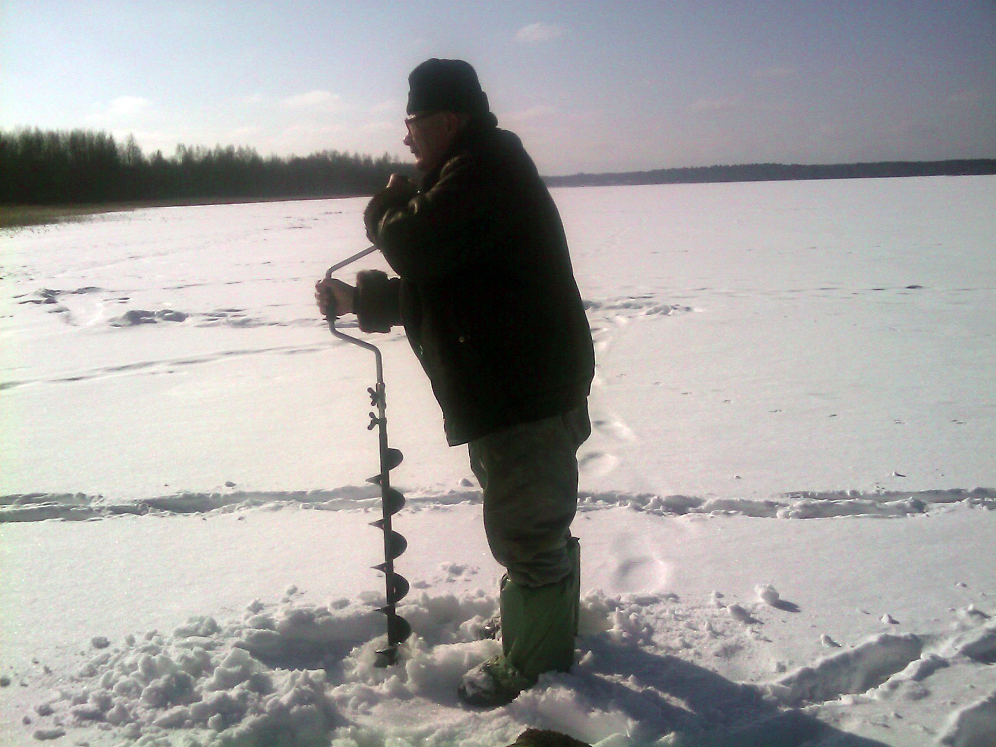 зимняя рыбалка  Деревня