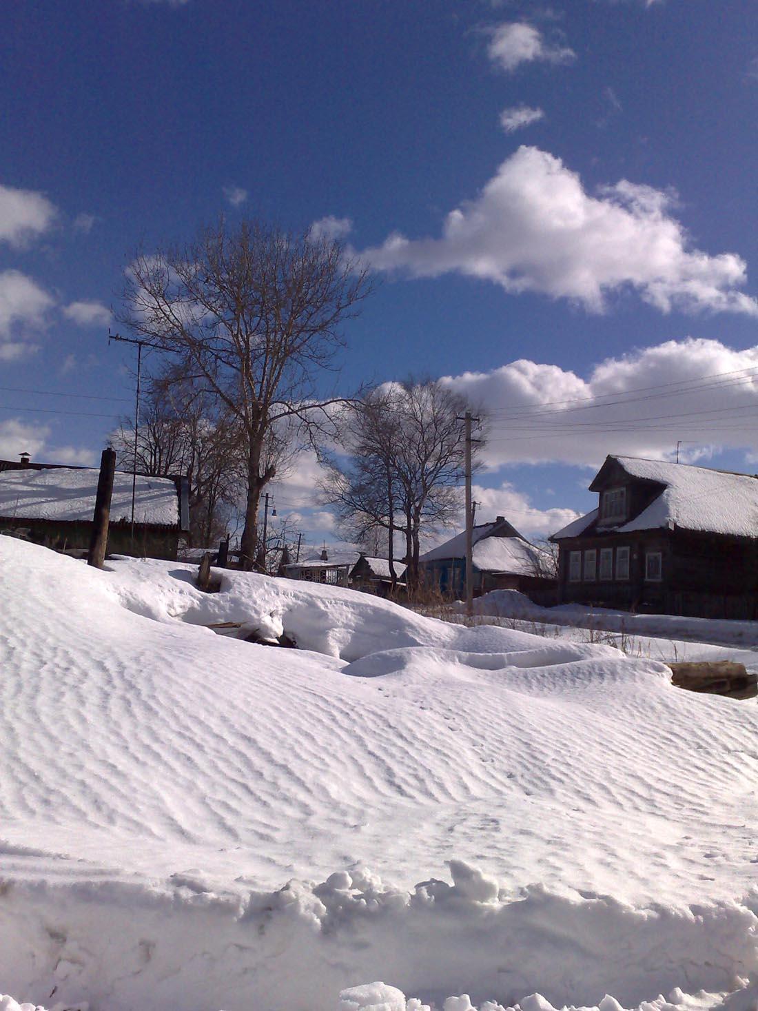 снежные барханы  Деревня