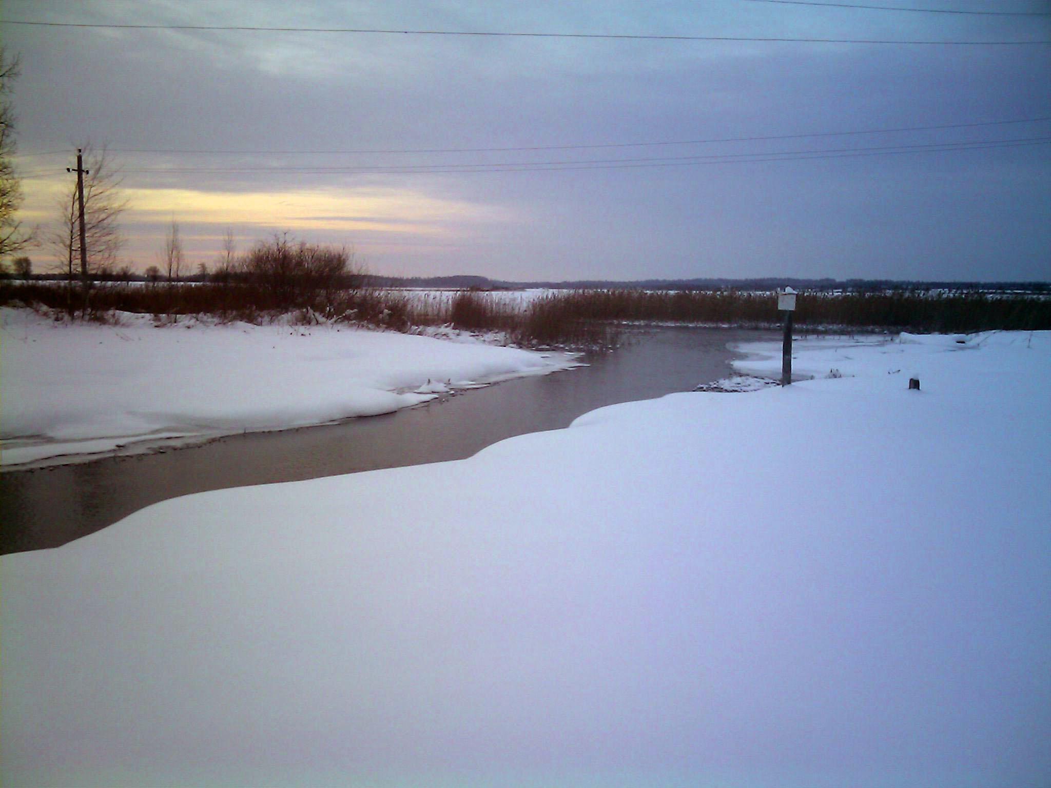 рассвет зимой  Природа