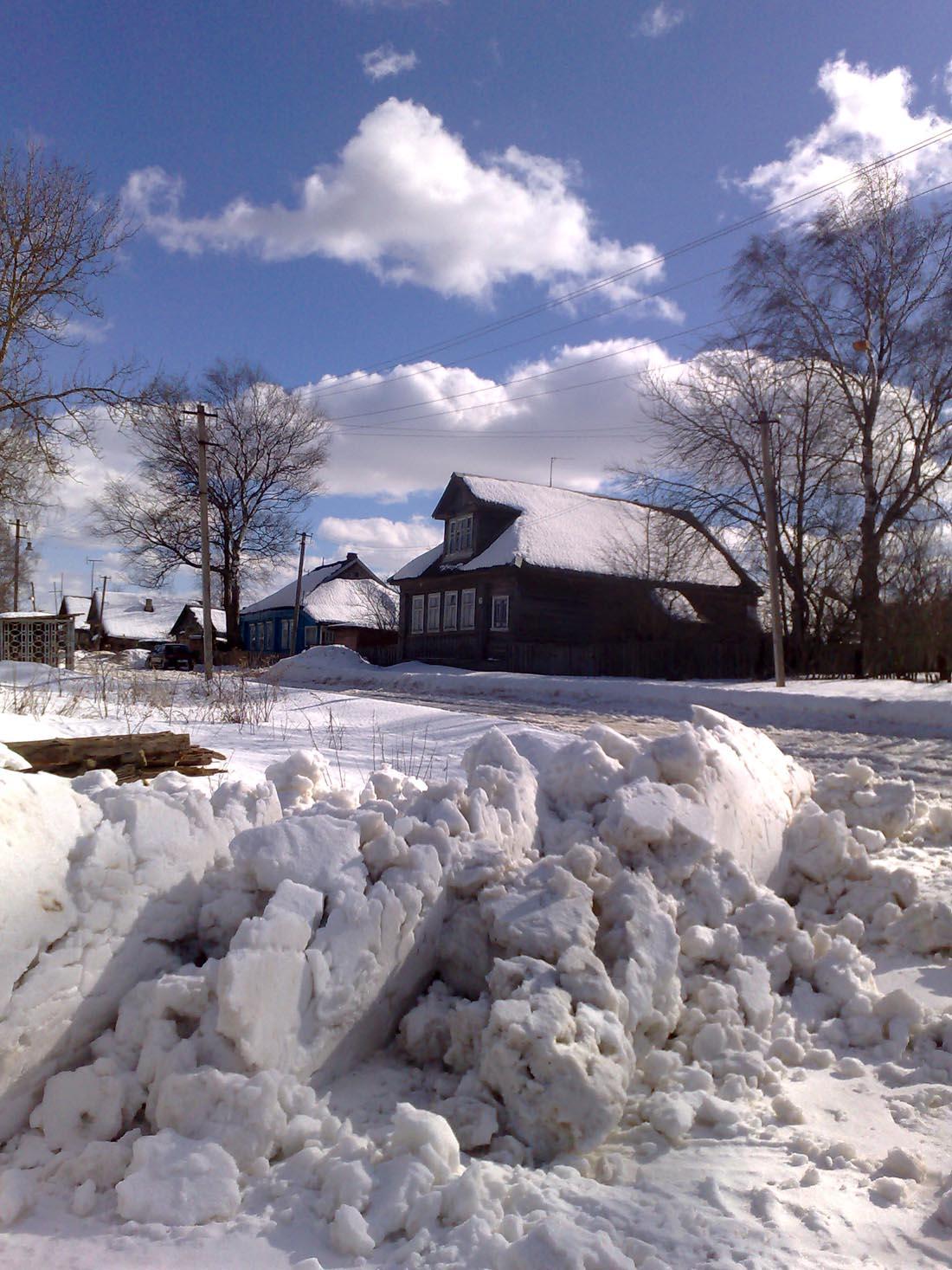 белоснежные облака  Деревня