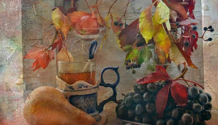 виноград и груша готов с текст