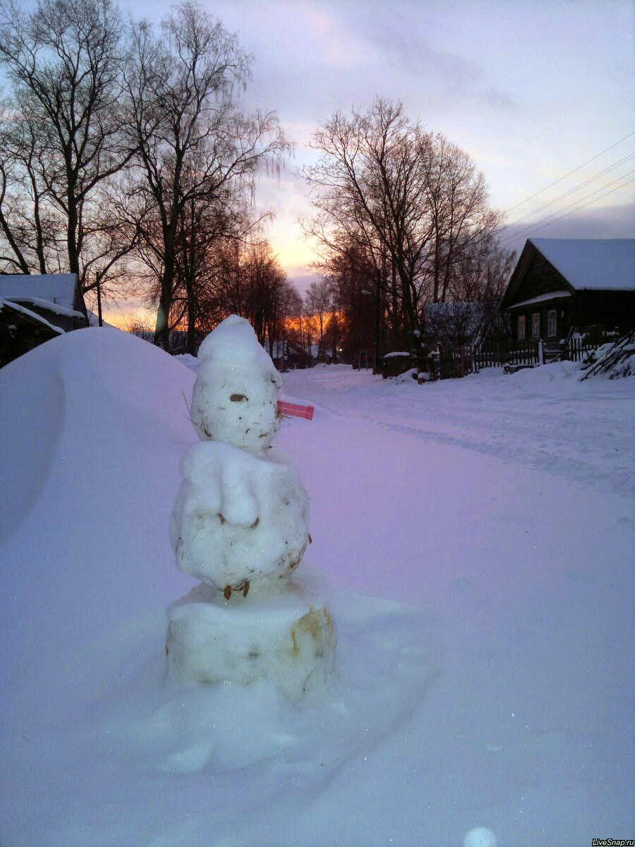 снеговик  Деревня