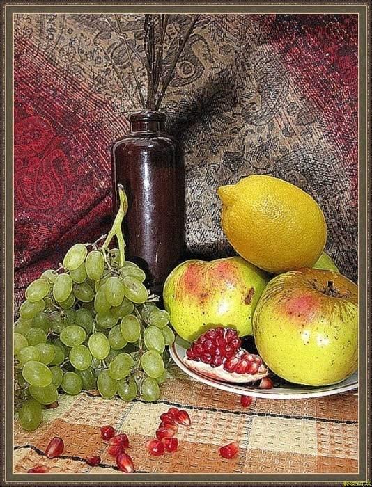 лимон яблоко виноград