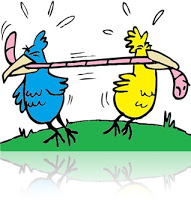 pássaros-disputando-minhoca